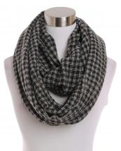 LOF191(BK)-wholesale-infinity-scarf-checkered-two-tone-knitted-versatile-acrylic(0).jpg