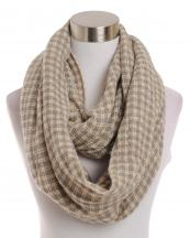 LOF191(PK)-wholesale-infinity-scarf-checkered-two-tone-knitted-versatile-acrylic(0).jpg