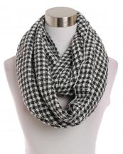 LOF191(WT)-wholesale-infinity-scarf-checkered-two-tone-knitted-versatile-acrylic(0).jpg