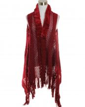 LOF585(BUR)-wholesale-vest-faux-fur-collar-knitted-fringe-solid-color-button-closure-draped-style-acrylic-mesh-(0).jpg