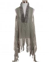LOF585(GY)-wholesale-vest-faux-fur-collar-knitted-fringe-solid-color-button-closure-draped-style-acrylic-mesh-(0).jpg