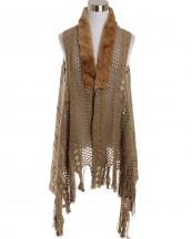 LOF585(TP)-wholesale-vest-faux-fur-collar-knitted-fringe-solid-color-button-closure-draped-style-acrylic-mesh-(0).jpg