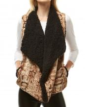 LOF942(BG)-wholesale-vest-snake-pocket-animal-pattern-fur-lining-one-size-two-tone-color-polyester-fashion(0).jpg