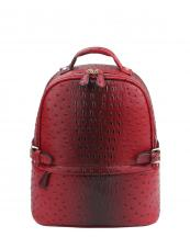 LQ065O(RD)-wholesale-backpack-alligator-ostrich-animal-pattern-faux-vegan-leather-strap-belt-buckle-gold-pocket(0).jpg