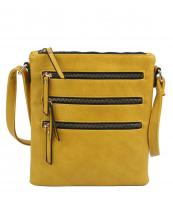 LQ172(YL)-wholesale-cross-body-bag-solid-color-leatherette-three-zippered-pockets-stripe(0).jpg