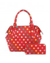 LQ1811W(RD)-wholesale-polka-dot-handbag-set-multi-changing-pad-initial-embroidered-(0).jpg