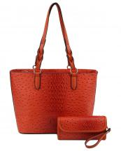 LQF031(OR)-wholesale-leatherette-handbag-set-animal-alligator-ostrich-pattern-vegan-wallet-stripe-microfiber(0).jpg