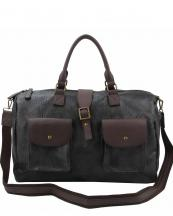 LSD019(BK)-wholesale-duffle-bag-handbag-leatherette-two-color-pocket-flap-belt-buckle-canvas-shoulder-strap(0).jpg