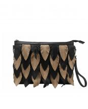 LY112(BK)-wholesale-messenger-bag-feather-leatherette-two-tone-color-gold-vegan-crossbody-wristlet-feathery(0).jpg