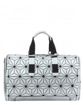 LYX005(SL)-wholesale-duffle-bag-geometric-mosaic-pattern-leatherette-faux-leather-canvas-black-solid-strap(0).jpg