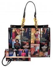MB2011HS(BK)-(SET-2PCS)-wholesale-handbag-wristlet-hologram-magazine-barack-michelle-obama-patent-faux-compartment-pocket-(0).jpg