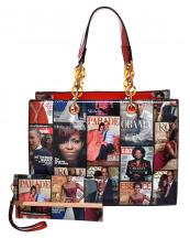 MB2011S(RD)-(SET-2PCS)-wholesale-handbag-wristlet-magazine-barack-michelle-obama-patent-faux-metallic-compartment-pocket-(0).jpg