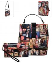MB5001S(BK)-(SET-2PCS)-wholesale-backpack-messenger-bag-magazine-patent-convertible-wristlet-michelle-barack-obama-faux(0).jpg