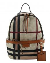 MC0060(MUL1)-wholesale-backpack-plaid-checkered-pattern-woven-canvas-name-tag-vegan-leatherette-pocket-stripe(0).jpg