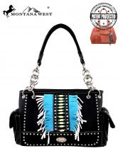 MW303G8085(BK)-MW-wholesale-montana-west-handbag-native-indian-beaded-two-tone-fringe-logo-silver-studs-concealed(0).jpg