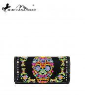 MW326W002(BK)-MW-wholesale-montana-west-wallet-clutch-sugar-skull-embroidery-multicolor-rhinestones-silver-studs(0).jpg
