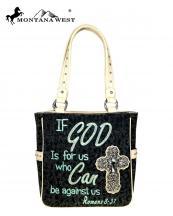 Mw5158281 Bk Mw Whole Montana West Canvas Handbag