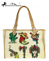 MW7318112(TAN)-MW-wholesale-handbag-wild-west-icon-paint-canvas-graphic-cactus-skull-cowboy-hat-gun-boot-native-indian(0).jpg