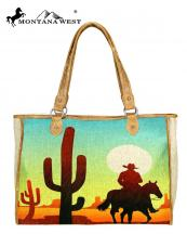 MW7328112(TAN)-MW-wholesale-handbag-wild-west-icon-paint-canvas-graphic-cowboy-desert-sunset-cactus-horse-pu-leather(0).jpg