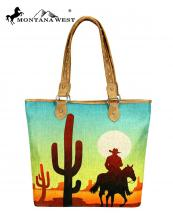 MW7329318(TAN)-MW-wholesale-handbag-wild-west-icon-paint-canvas-graphic-cowboy-desert-sunset-cactus-horse-pu-leather(0).jpg