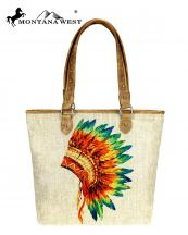 MW7349318(TAN)-MW-wholesale-handbag-native-american-paint-canvas-graphic-pu-leather-trim-indian-chief-headdress(0).jpg