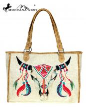MW7378112(TAN)-MW-wholesale-handbag-steer-head-skull-paint-canvas-graphic-pu-leather-trim-native-american(0).jpg
