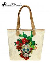 MW7409318(TAN)-MW-wholesale-handbag-sugar-skull-floral-paint-canvas-graphic-pu-leather-trim-catcus-multicolor-rose(0).jpg