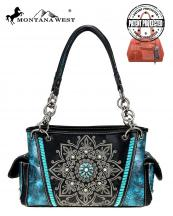 MW784G8085(BK)-MW-wholesale-handbag-montana-west-concho-turquoise-concealed-tribal-laser-cut-floral-emboss-gold-stud(0).jpg