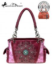 MW784G8085(BUR)-MW-wholesale-handbag-montana-west-concho-turquoise-concealed-tribal-laser-cut-floral-emboss-gold-stud(0).jpg
