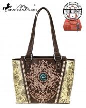 MW784G8317(BR)-MW-wholesale-handbag-montana-west-concho-turquoise-concealed-tribal-laser-cut-floral-emboss-gold-stud(0).jpg