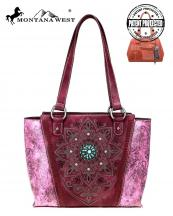 MW784G8317(BUR)-MW-wholesale-handbag-montana-west-concho-turquoise-concealed-tribal-laser-cut-floral-emboss-gold-stud(0).jpg