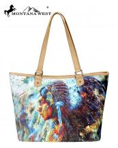 MW7898581(TAN)-MW-wholesale-handbag-wide-tote-bag-native-american-graphic-fabric-pu-leather-trimmed-indian-chieftess(0).jpg