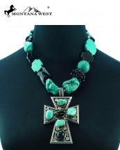 NKS16030305(TQBK)-MW-wholesale-montana-west-necklace-cross-stone-beads-mixed-lobster-closrue-extention-chain(0).jpg