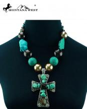 NKS16030306(TQBR)-MW-wholesale-montana-west-necklace-cross-stone-beads-mixed-lobster-closrue-extention-chain(0).jpg