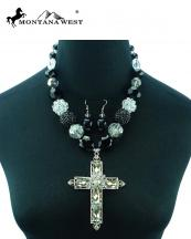 NKS16030307(BK)-MW-wholesale-montana-west-necklace-earrings-set-cross-beads-mixed-lobster-closrue-extention-chain(0).jpg