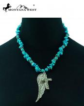 NKS16030308(TQ)-MW-wholesale-montana-west-necklace-turquoise-chips-wing-cross-pendant-ring-closure(0).jpg