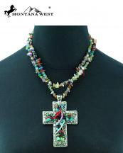NKS16030311(MUL)-MW-wholesale-montana-west-necklace-multi-color-chips-cross-pendant-two-strand-ring-closure(0).jpg