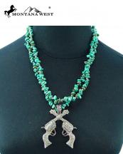 NKS16030312(TQ)-MW-wholesale-montana-west-necklace-turquoise-chips-crossgun-pendant-two-strand-ring-closure(0).jpg