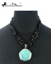 NKS16031105(BK)-MW-wholesale-montana-west-necklace-dryed-turquoise-chips-semi-precious-stone-pendant-round-two-strand(0).jpg