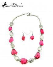 NKY09022701(PK)-MW-wholesale-montana-west-necklace-earring-set-multi-turquoise-beads-short(0).jpg
