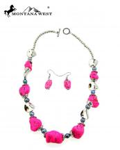 NKY09022709(HPK)-MW-wholesale-montana-west-necklace-earring-set-multi-turquoise-beads-short(0).jpg