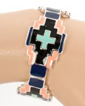 OB05690(SVNLB)-wholesale-metal-round-bracelet-stretch-jewelry-aztec-star-southwestern-cross-multicolor(0).jpg