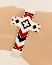 OB05691SV(BWT)-wholesale-metal-chevron-cross-bracelet-jewelry-cuff-multi-color-(0).jpg