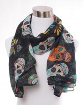 OF0101(BK)-wholesale-sugar-skull-flower-diamond-pattern-scarf-polyester(0).jpg
