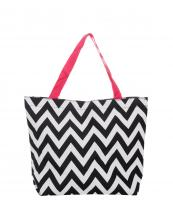 P18601-V(BWP)-wholesale-tote-bag-handbag-nylon-chevron-polyester-zigzag-embroiderable(0).jpg