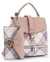 PL1045S(BG)-wholesale-vegan-leatherette-handbag-set-plaid-style-design-wallet-metal-tap-closer-backpack-style(0).jpg