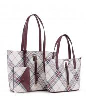 PL5630T(WN)-wholesale-leatherette-handbag-set-plaid-vegan-leatherette-wristlet-metal-feet-striped-microfiber(0).jpg
