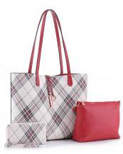 PL5666T(RD)-wholesale-leatherette-handbag-set-plaid-vegan-leatherette-wallet-messenger-bag-striped-microfiber(0).jpg