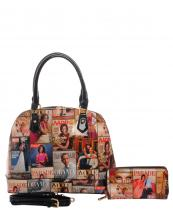 PM0051W(MUL)-wholesale-handbag-fashion-wallet-set-2pcs-megazine-printed-patent-leatherettte-michelle-barack-obama(0).jpg