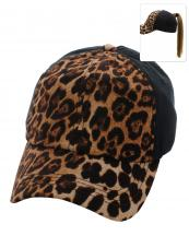 PONY003(BK)-wholesale-baseball-cap-leopard-pattern-print-ponytail-solid-color-hook-loop-closure-cotton-polyester(0).jpg
